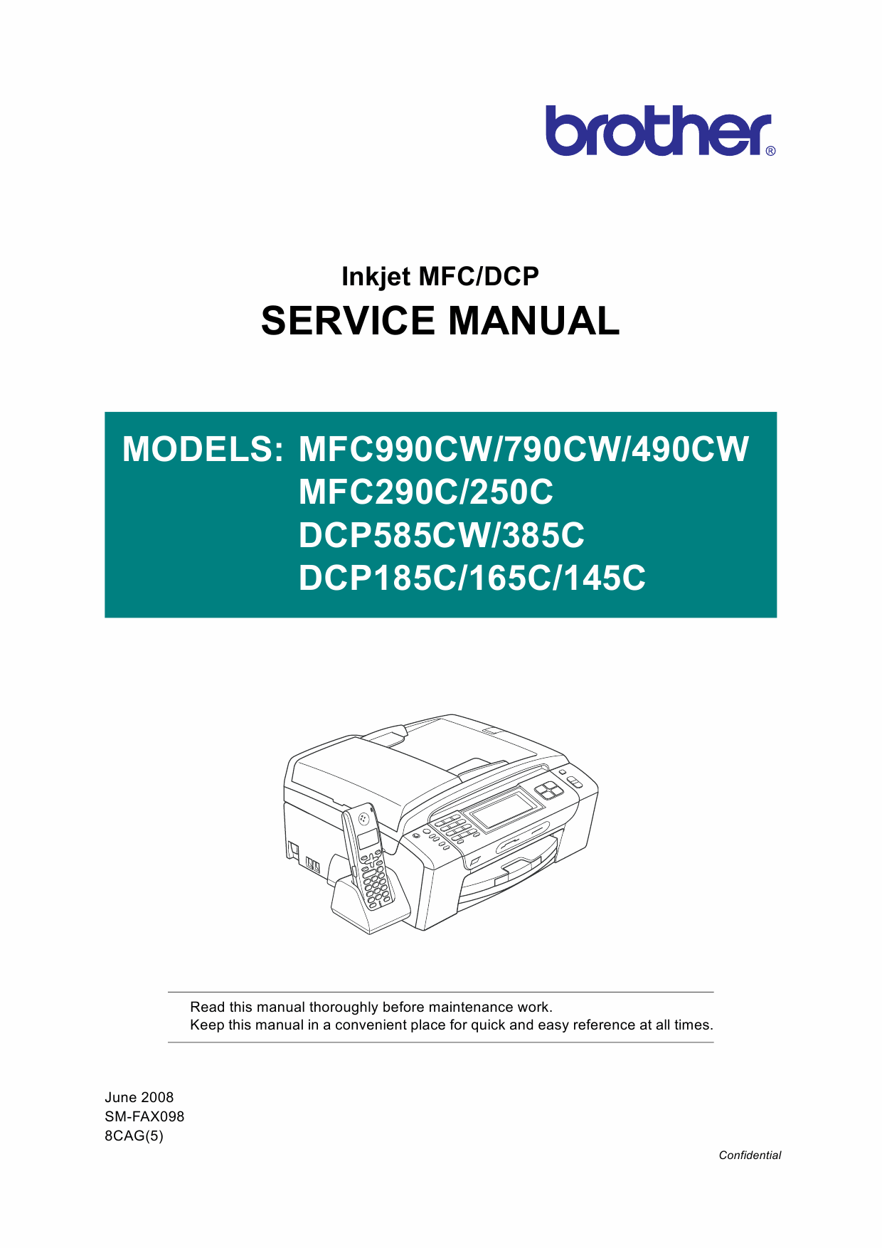 Brother Inkjet-MFC 250 290 490 790 990 C CW DCP145 165 185 285 585 C-CW Service Manual-1